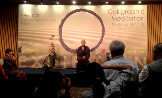 Opening of Zen Master Thich Nhat Hahn Calligraphy Exhibition at Bangkok Art and Culture Centre